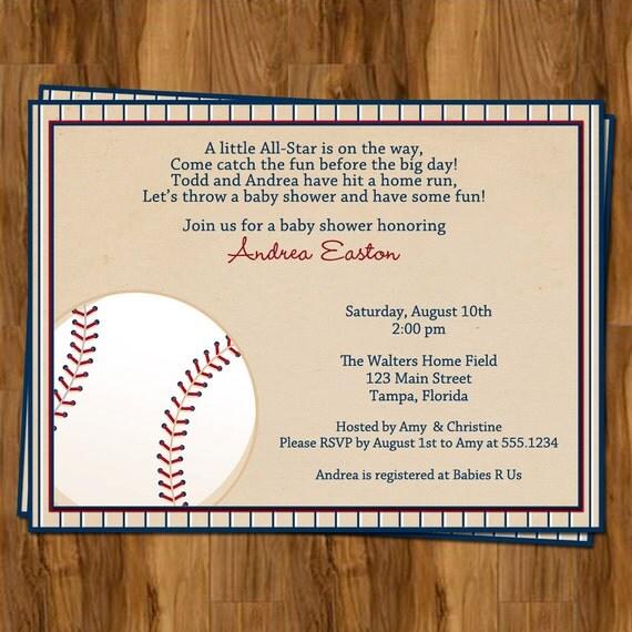 Vintage Baseball Baby Shower Invitations By TheInviteLadyShop