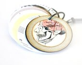 Science Anatomy Journal Necklace : Miniature Sketchbook Jewelry / Face It Necklace