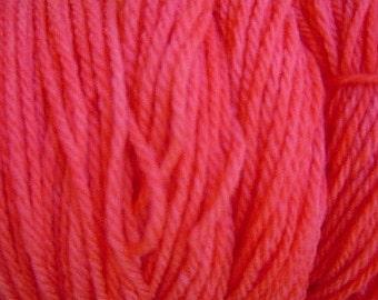 Sun Red Sport DK Weight Hand Dyed Merino Wool Yarn