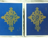 Limited Edition- Ethiopian Lalibela Cross Hand Stamped Card