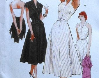 Repro Halter Dress Sewing Pattern UNCUT Butterick B5214 Sizes 16-24