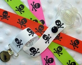 Skull Pacifier Clip Soothie Holder