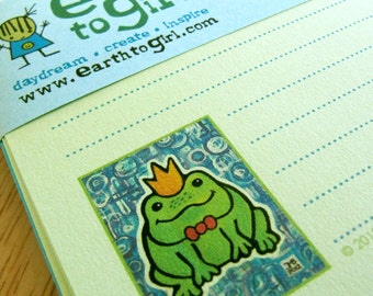 Frog Prince Green Stationery Set