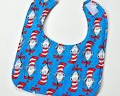 Dr Seuss Baby Bib Infant Boy Bib Baby Shower Gift Dr Suess Drool Bib, New Mom Gift, Made From Dr Seuss Fabric
