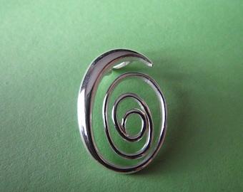 Sterling Silver Swirl Style Pendant