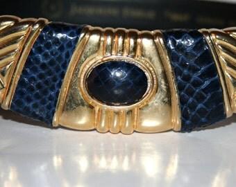 Vintage Snakeskin Belt By Jacqueline Ferrar Size Medium