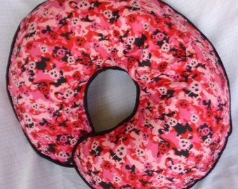 Baby Girl Boppy Slipcover Pink Skull Camo Camouflage Nursing Pillow Cover Military Soldier Breastfeeding Support Pillow Cover Skull Baby