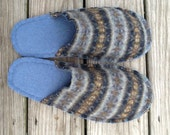 Foot Puppies, recycled felted wool slippers Men's size 12-13