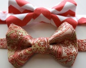 Little Guy Bow Tie - CORAL Collection - (Newborn - 10 years) - Baby Boy Toddler - Custom Order - Wedding - Photo Prop