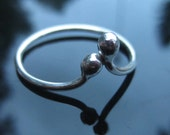 Delicate sterling stack ring