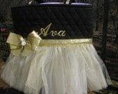 Personalized Gold Tutu Dance Bag