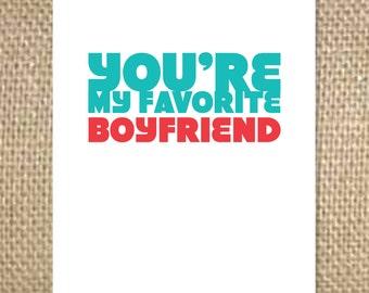 Favorite Boyfriend Card
