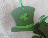 St. Patrick's Day Tags,  Green Hats with Shamrock,  Gift Tags,  St. Patrick's Day Decor, St. Patrick's Days Tags