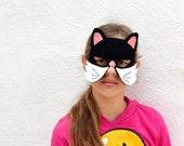 Black Cat Kid Animal Mask Children Carnival Mask Dress up Costume Accessory, Boys, Girls, Toddlers Felt Pretend Play Toy
