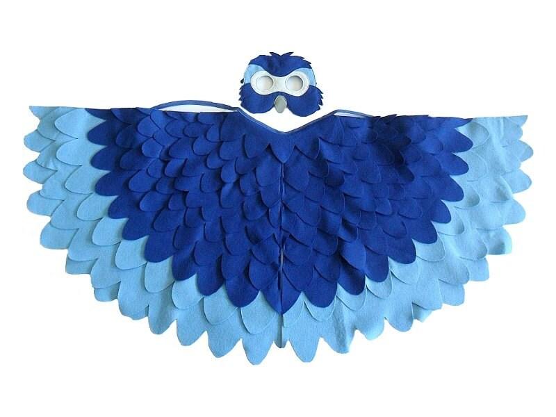 Children Bird Costume Blue Macaw Arara Parrot Wings by ...