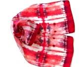 Silk Scarf Tie Dye Coral Reds - SilkMari
