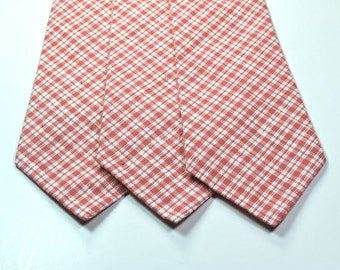 Coral Neckties Pink Neckties Cotton Neckties Plaid Neckties