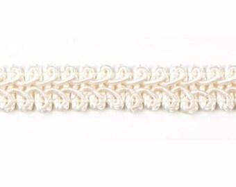 """E1901 Ivory Gimp Sewing Upholstery Trim 1/2"""" (E1901-IV)"""