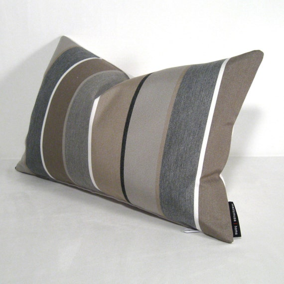 Grey Pillow Cover Gray Brown Outdoor Indoor Modern By