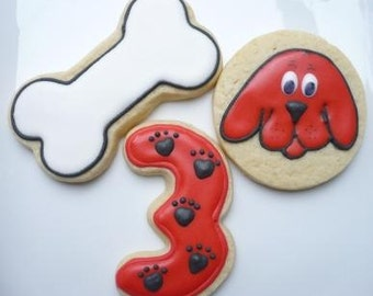 Red Dog Cookie favors - one dozen Clifford