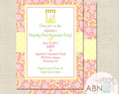 Pink Lemonade Invitation - Lemonade Party in Pink and Yellow - Digital or Printable - By A Blissful Nest
