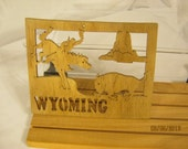 US STATE of  WYOMING  Scroll Saw Plaque
