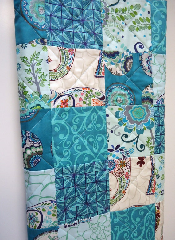 Elephant Baby Quilt Bohemian Bedding Baby Quilt Patchwork