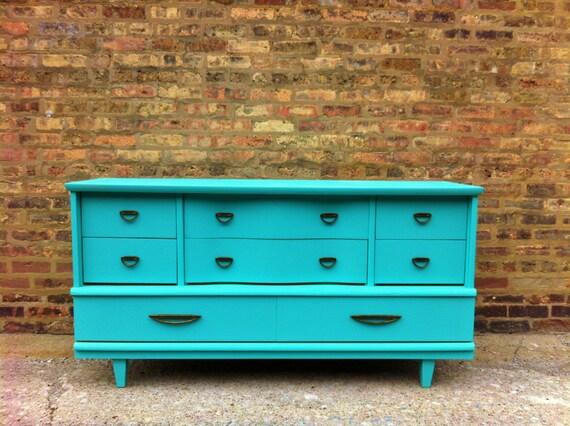 Vintage Dresser In Chevy Blue