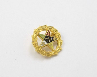 Vintage Order of the Eastern Star Pin, 25th Anniversary Pin Order of the Eastern Star, Masonic Pin