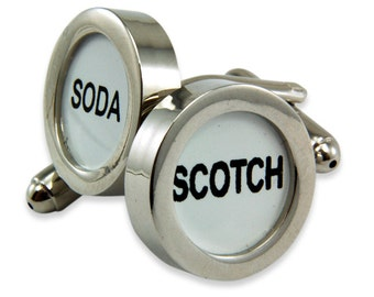 Scotch and Soda Cufflinks - Cash Register Key Cufflinks - Scotch and Soda - by Gwen DELICIOUS Jewelry Design