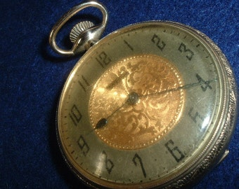 Waltham Marquis Model 15 Jewels Gilded Movement Pocket Watch