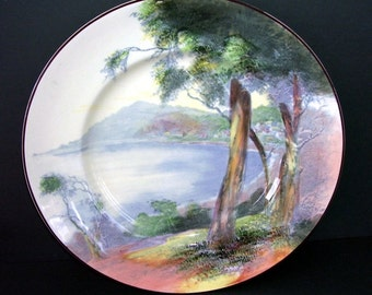 Royal Doulton Loree D6310 China Cabinet Plate, Trees, Seriesware Lorne Victoria Australia, Collectors Plate, Cabinet Plate, Australian China