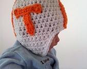 Custom Listing for Emma  2 University of Tennessee Volunteers Photo Props newborn crocheted helmet   FREE SHIPPING