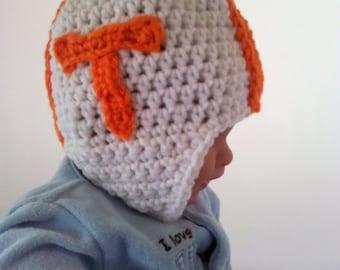 University of Tennessee Volunteers Photo Prop newborn crocheted helmet   FREE SHIPPING