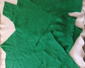 Felted Wool Angora Blend Sweater Remnants Green Recycled Fabric Material