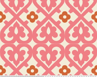Indian Summer by Zoe Pearn for Riley Blake C2612 Pink Tiles Damask