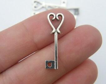 14 Key pendants tibetan silver K2