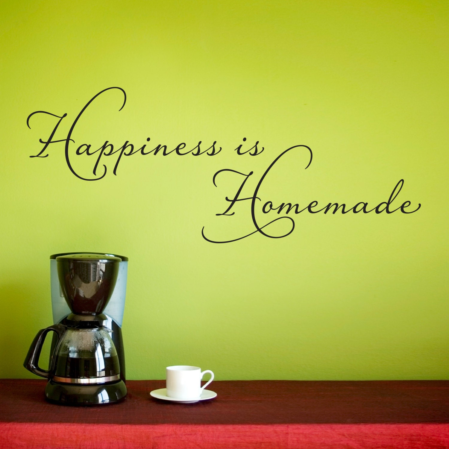 Happiness is Homemade Wall Decal Kitchen Wall Sticker