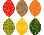 Fall Pattern Leaves - Peel and Stick Repositionable Stickers