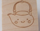 "1"" Teapot Rubber Stamp"