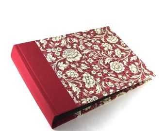floral red Photo Album Renaissance pattern, dark red family album