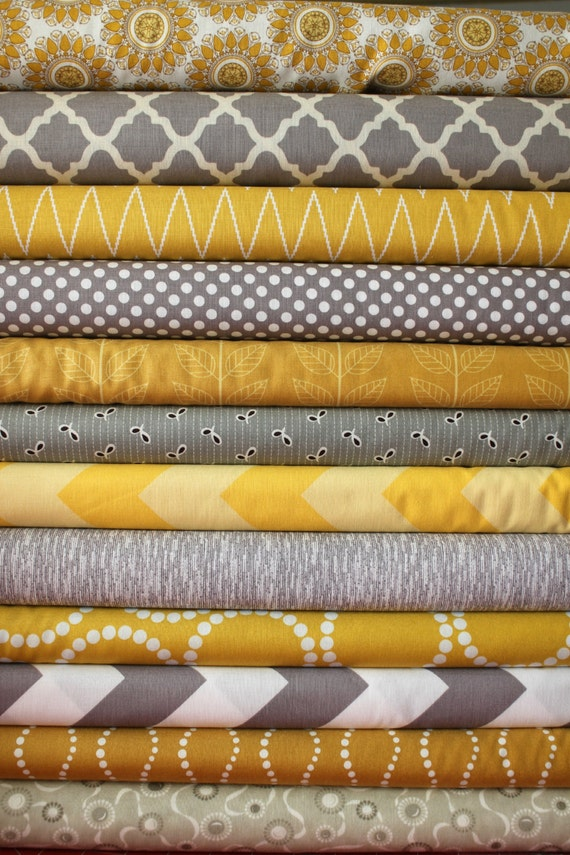 Mustard And Gray Custom Fq Bundle 12 Total