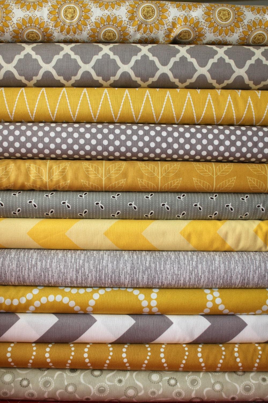 Mustard And Gray Custom Fq Bundle 12 Total