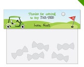 Golf Party - Personalized DIY printable treat bag label