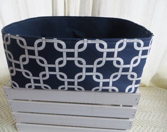 Storage Basket Laundry Toy Bin Container Organizer  16 x 14 x 8 Choose your fabric