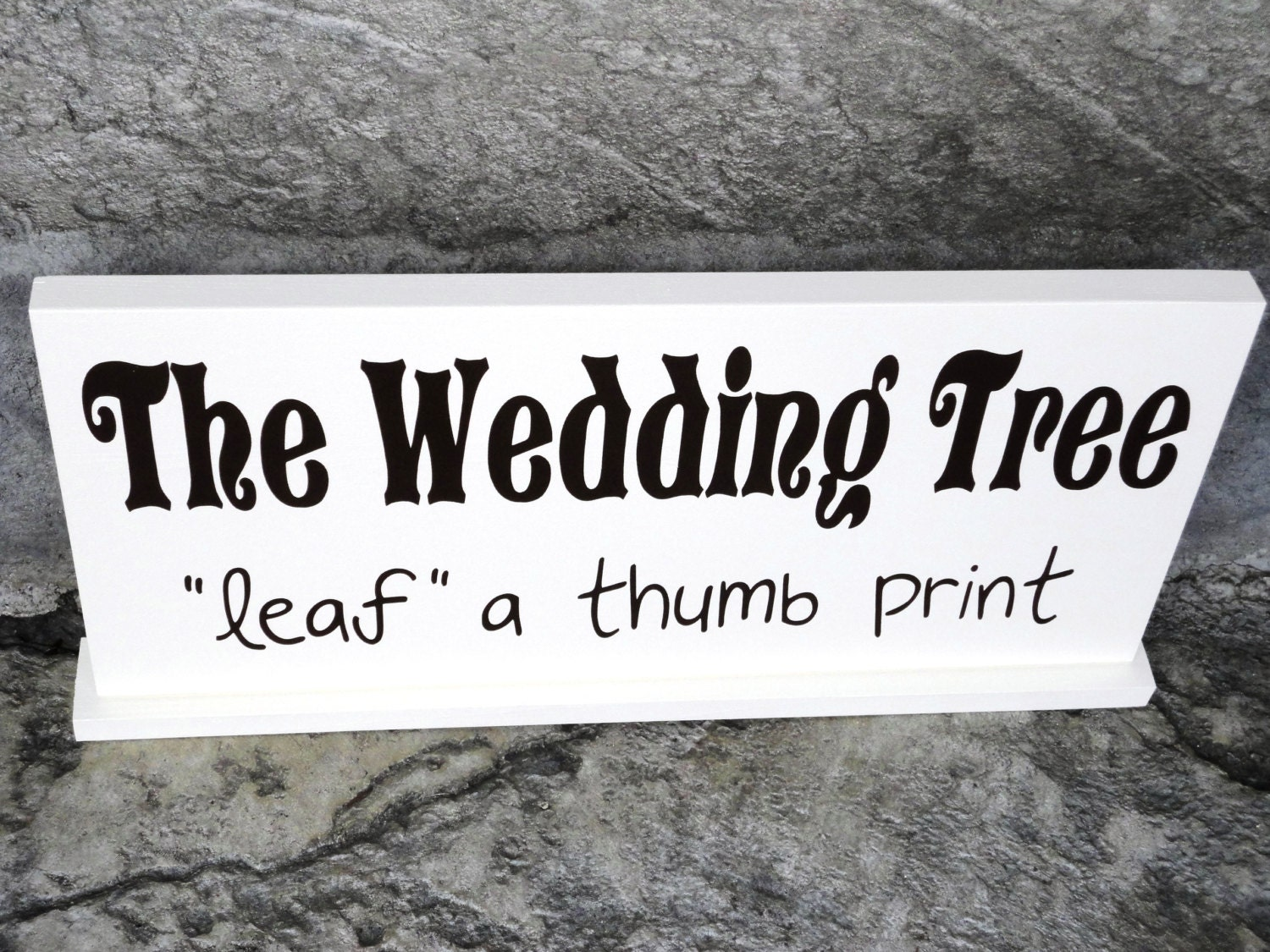 Wedding Tree Sign Reception Table Sign By OurHobbyToYourHome
