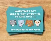 A Ruff Valentines, Puppy Dog, Printable Valentine Card