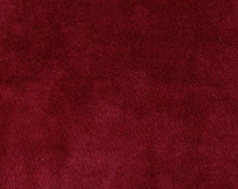"4127- 19"" x 9"" piece of Recycled Suede Leather Fabric/burgandy/soft/supple/Woolen Crow price 7.95/jewelry/craft supply/machine sewable"