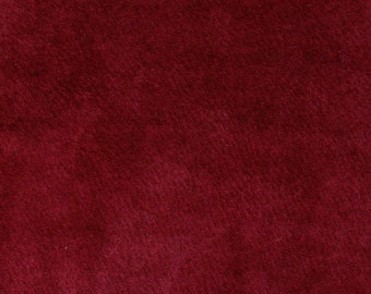 4127 Burgandy Recycled Suede Leather Fabric/19x9/large size/19x9/extremely soft & supple/craft supplies/leather projects/machine sewable