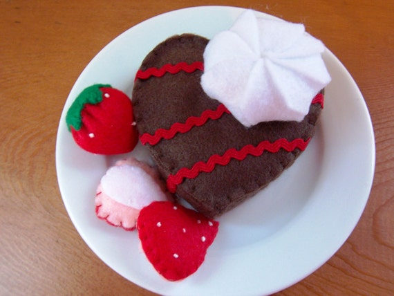 Felt Food Toys R Us : Items similar to felt food heart brownie eco friendly